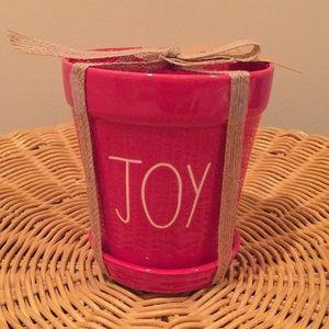 "Rae Dunn ""Joy"" ceramic pot"